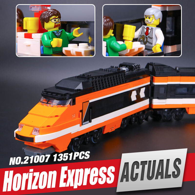 Lepin 21007 Technic Series The Horizon Express Model 10233 Horizon Train Educational Building Blocks Bricks legoing Toys Gift