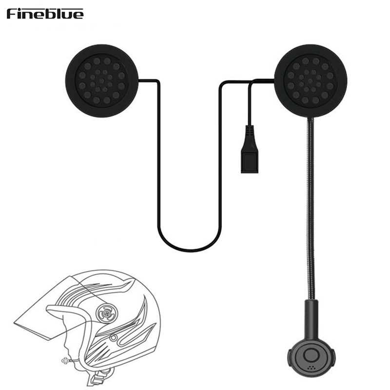 Motor Headset Bluetooth Wireless Helmet Speakers Earphone Motorcycle Earphone Volume Control Headsets Handsfree For MP3 Phone lexin 2pcs max2 motorcycle bluetooth helmet intercommunicador wireless bt moto waterproof interphone intercom headsets
