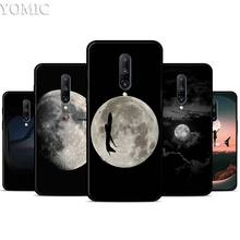 Black and white airplane moon Silicone Case for Oneplus 7 7Pro 5T 6 6T Black Soft Case for Oneplus 7 7 Pro TPU Phone Cover