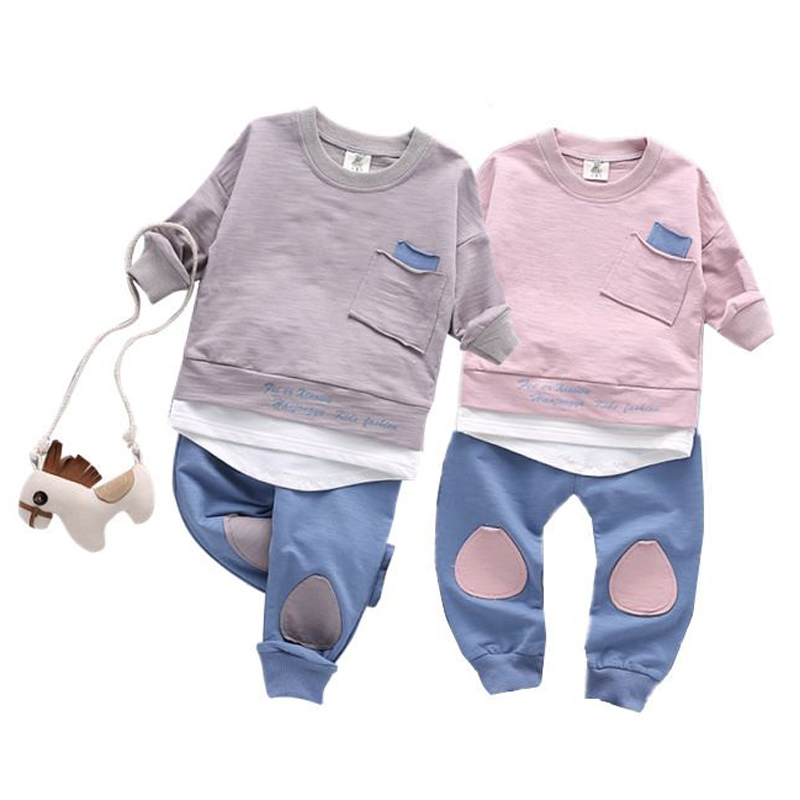 New 2017 Autumn kids boys clothes mother & kids clothing girls patchwork children clothing set boys sport suit 1-3 years boys clothes autumn children 2017 new boys tracksuit cotton camouflage two piece clothing kids clothes suit 4 6 8 10 12 14 years