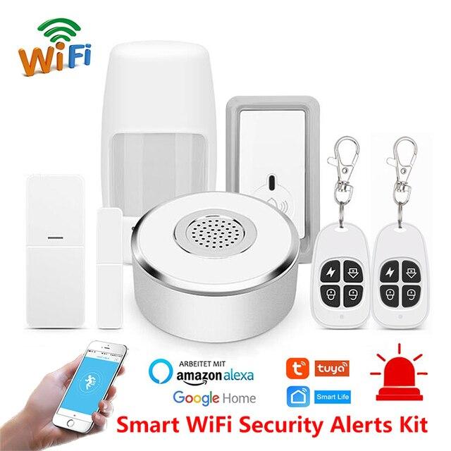 Tuya smart home WiFi Security Alarm Kit gateway Hub Deur Raam Sensor PIR Detector Automatisering Home Security Systeem Alexa Google-in Alarm Systeemkits van Veiligheid en bescherming op