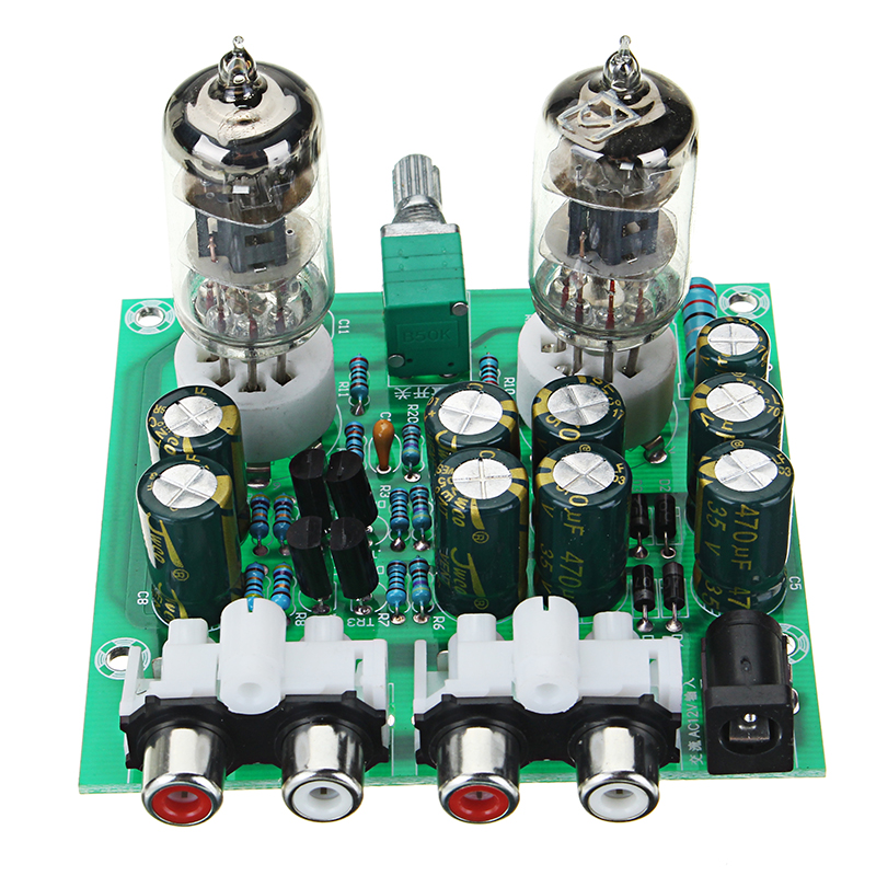 Aassembled AC 12V 1A 6J1 Preamp Tube Preamp Amplifier Board PreAmplifier Module Pre-Amp Headphone Buffer