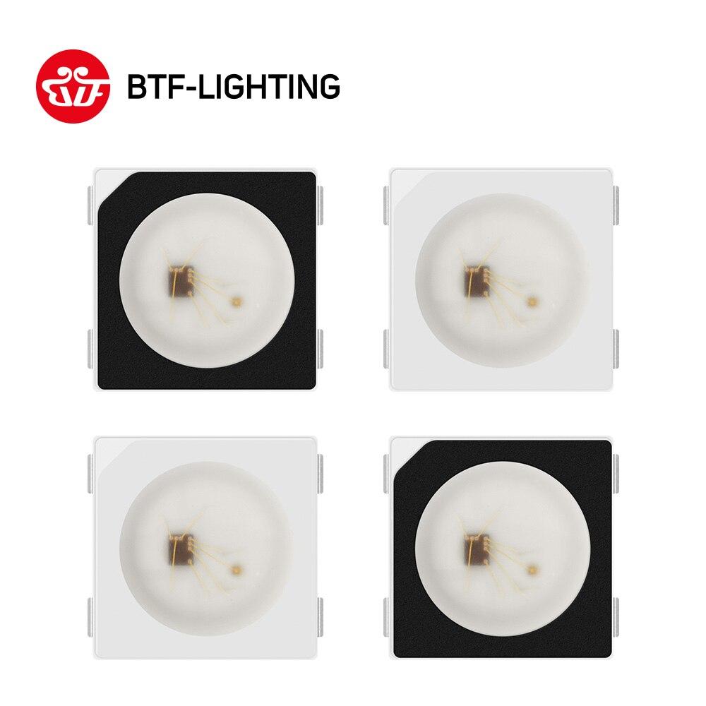 Купить на aliexpress WS2812B светодиодный чип 10 ~ 1000 шт. 5050 RGB SMD черный/белый вариант WS2812 индивидуально Адресуемая цифровая 5 V