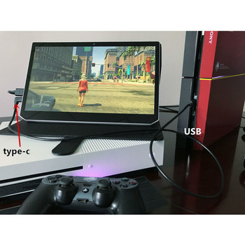 13.3 inch Portable 1920 * 1080 IPS Screen Support Widows VGA HDMI Monitor for PS3 XBOX PS4 NS JX Tablet Computer Second Monitor monitor portátil hdmi ps4