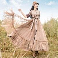 Бесплатная доставка 2018 Новая мода длиной макси осенью и весной Винтаж Тренчи для женщин Платья для женщин для Для женщин boshow Верхняя одежда