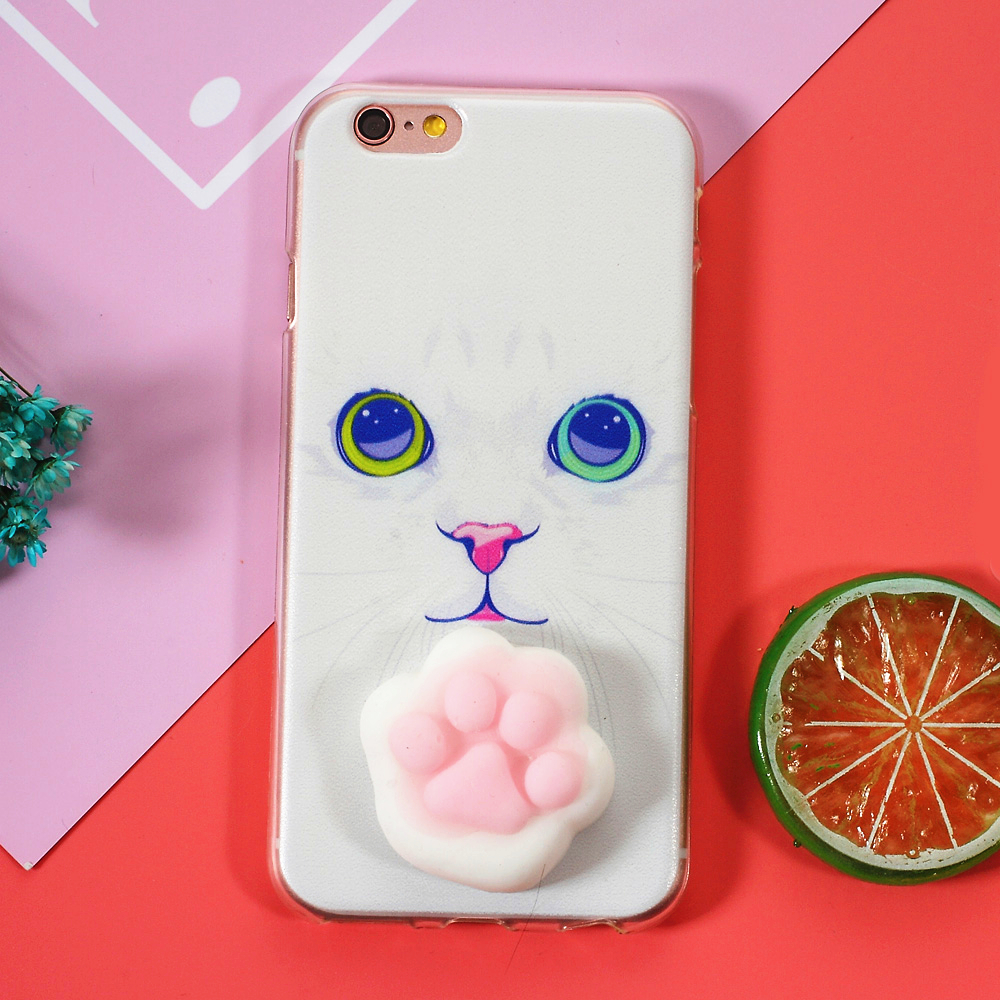 Iphone 6 squishy case - Aliexpress Com Buy For Iphone 6 7 6plus 7 Plus Se Cell Phone Squishy Case 3d Pinch Silicone Cat Tpu Back Case For Iphone 6s Squishy Case White Cat From