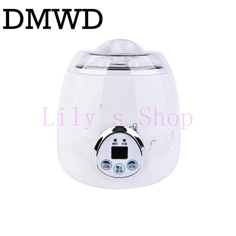 Automatic rice wine maker yogurt makers Electric Buttermilk Sour cream making machine stainless steel Home yoghurt machine 220V hot selling electric yogurt machine stainless steel liner mini automatic yogurt maker 1l capacity 220v