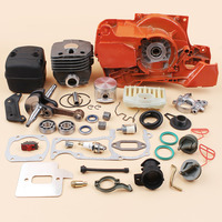 50mm Crankcase Cylinder Crankshaft Exhaust Muffler Oil Pump Cap Kit For HUSQVARNA 365 372 371 362 Chainsaw Engine Motor Parts