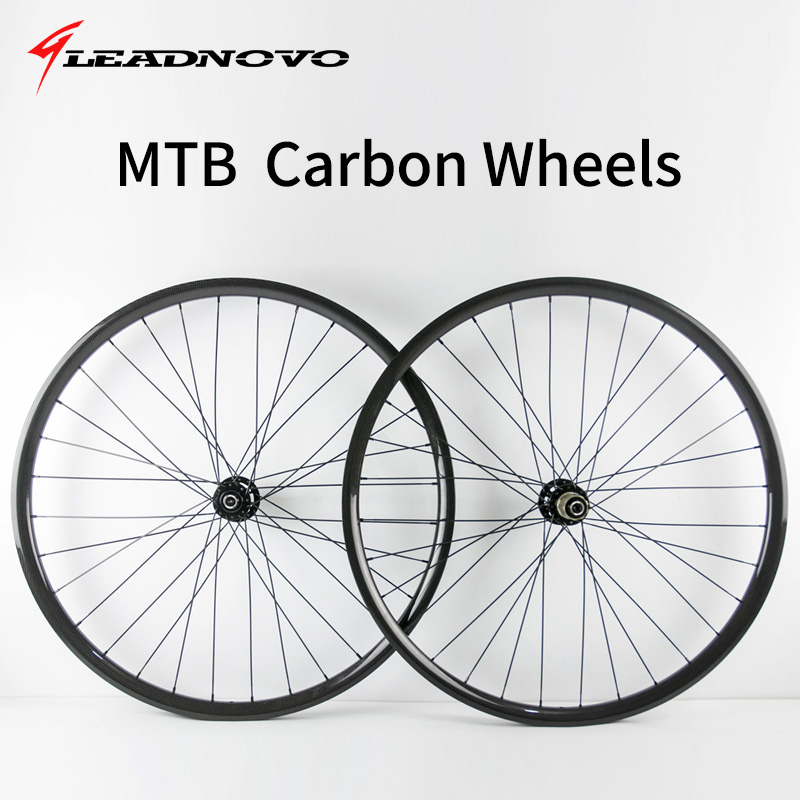 MTB carbon wheels 27.5er 29er  25mm width XC racing mountain bike wheelset D771 D711 hubs mountain bike four perlin disc hubs 32 holes high quality lightweight flexible rotation bicycle hubs bzh002