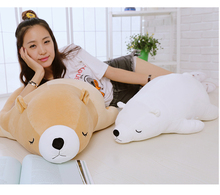 high quality prone polar bear doll very soft bear plush toy throw pillow Christmas gift birthday
