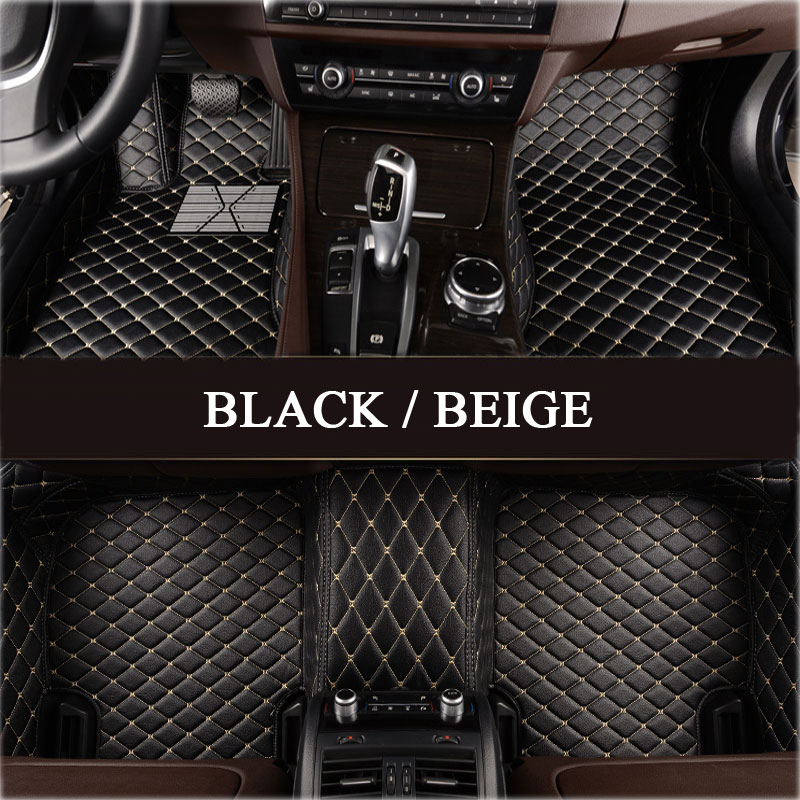 Custom fit car floor mats for Audi A1 A3 A4 A6 A7 A8 A6L Q3 Q5 Q7 TT 3D A single layer leathe car-styling carpet floor liner