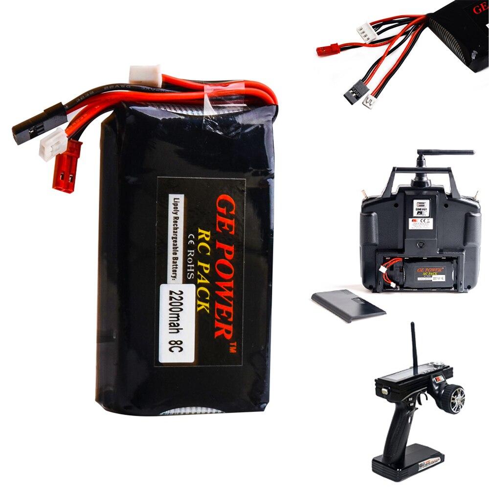 1 stücke Li-Polymer 3 s 11,1 v 2200 mah 8C 3PK Lipo Batterie Für Flysky FS-GT6 FS-GT3B FS-T6 sender