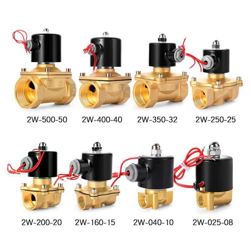 DN08 DN15 DN20 DN25 DN32 DN50 AC220/110V DC12V/24V Normally Closed Electric Solenoid Valve Pneumatic Valve For Water Oil Air