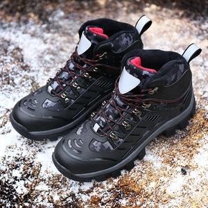 Image 3 - جديد الشتاء حذاء للسير مسافات طويلة الجلود في الهواء الطلق الأحذية الرحلات الدانتيل متابعة تسلق الرجال الصيد أحذية رياضية الرجال الذكور المشي