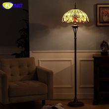 Buy floor lamp stores and get free shipping on aliexpress fumat art stained glass european baroque stand light fixtures living room book store aloadofball Images