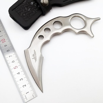 CS GO Fixed Claw Knife 440C Blade Karambit Survival Tactical Hunting Pocket Knives Camping Outdoor Utility Knife EDC Tools OEM cs cold sharpen blade wood handle knives camping survival pocket knife outdoor fighting hunting portable tactics edc tools