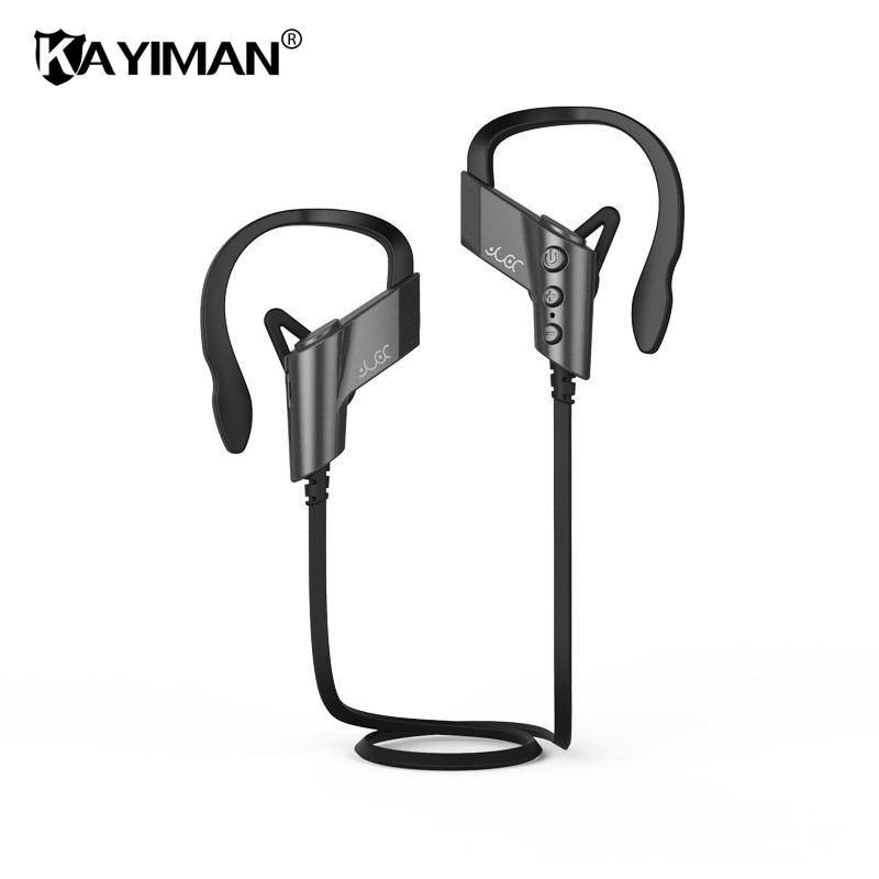 Sport Bluetooth Headphones Waterproof Wireless Headphone Ear Hook Headset Earphones with Mic for Phone iPhone Xioami KAYIMAN