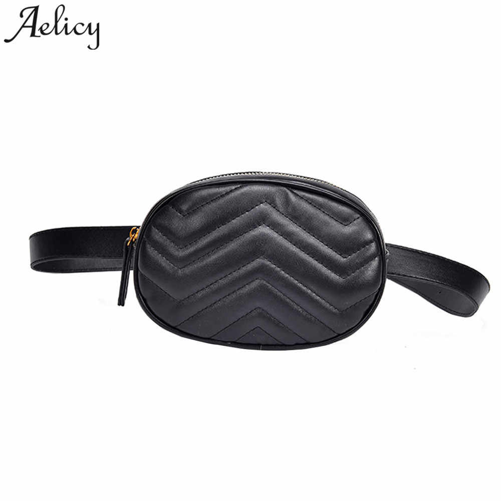 3cb369443263b3 Aelicy Women Chest Bag Fashion Pure Color Leather Women waist bag Ladies belt  Bag dropshipping new