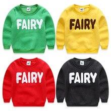 Children's clothing 2016 autumn and winter child fleece sweatshirt boys girls child letter pullover casual sports sweatshirts