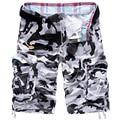 2017 new arrival Homens moda camuflagem cargo shorts casual shorts Militares moda na altura do joelho-comprimento de algodão solto calções tamanho 29-38