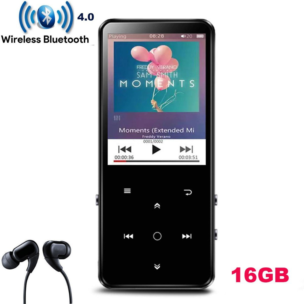 лучшая цена 16GB Bluetooth 4.0 MP4 Player with 2.4 Inch TFT Color Screen,Lossless Sound Metal Music Player with Speaker Backlight Touch Key