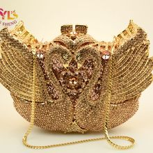 Fashion Luxury Crystal Bags Designer rhinestone swan Clutch