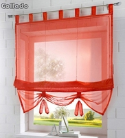 Заводская цена, Цвет Tab Топ Кухня балкон вуаль римские шторы подъемная Шторы 1 шт.