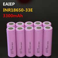 EAIEP INR18650-33E 3,7 V 3300mAh batería recargable de iones de litio 18650 EAIEP INR18650-33E herramienta de juguete electrónico flashli