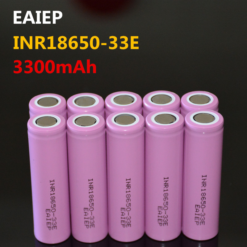 EAIEP INR18650-33E 3.7V 3300mAh Rechargeable Lithium Ion Battery 18650 EAIEP INR18650-33E  Electronic Toy Tool Flashli