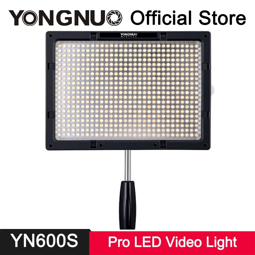 YongNuo YN600S LED Fill Light Bi-color 3200K~5500K Adjustable Ultra Thin Light Panel Photo Studio Video Photography Lighting yongnuo yn 600 air yn600 air ultra thin led camera video light panel 3200k 5500k photography studio lighting