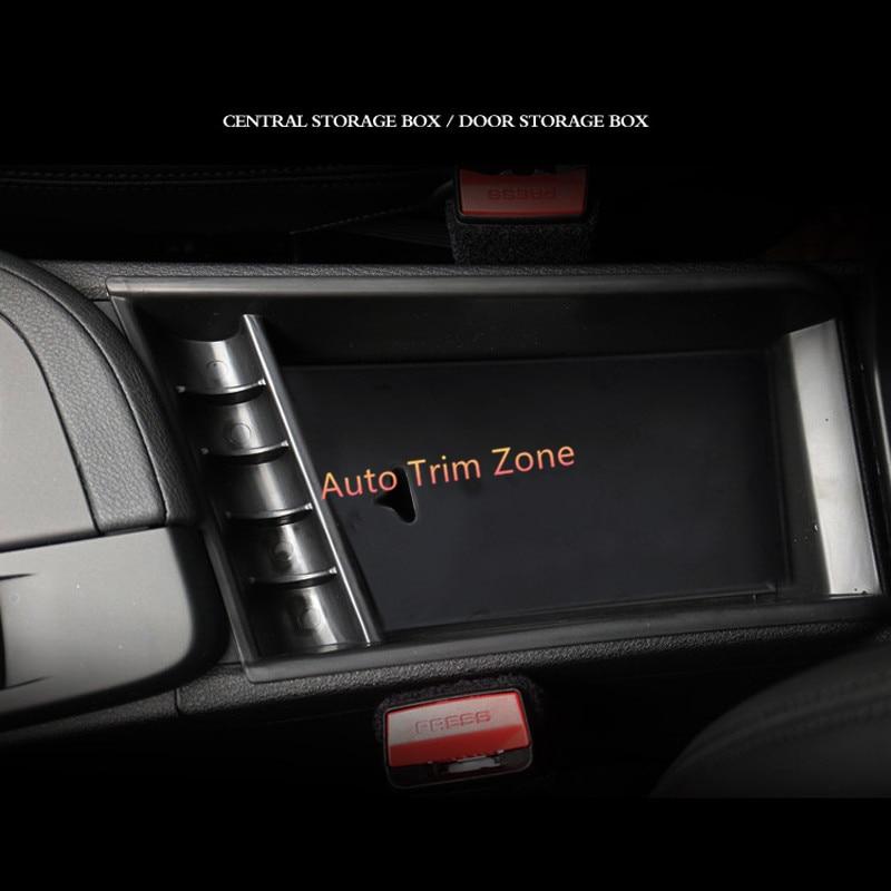 1*Plastic Black Front Central Armrest Inner Storage Box For BMW X1 F48 2016-2017 Left Hand Drive bqlzr diy 9 1x10x5cm black plastic left