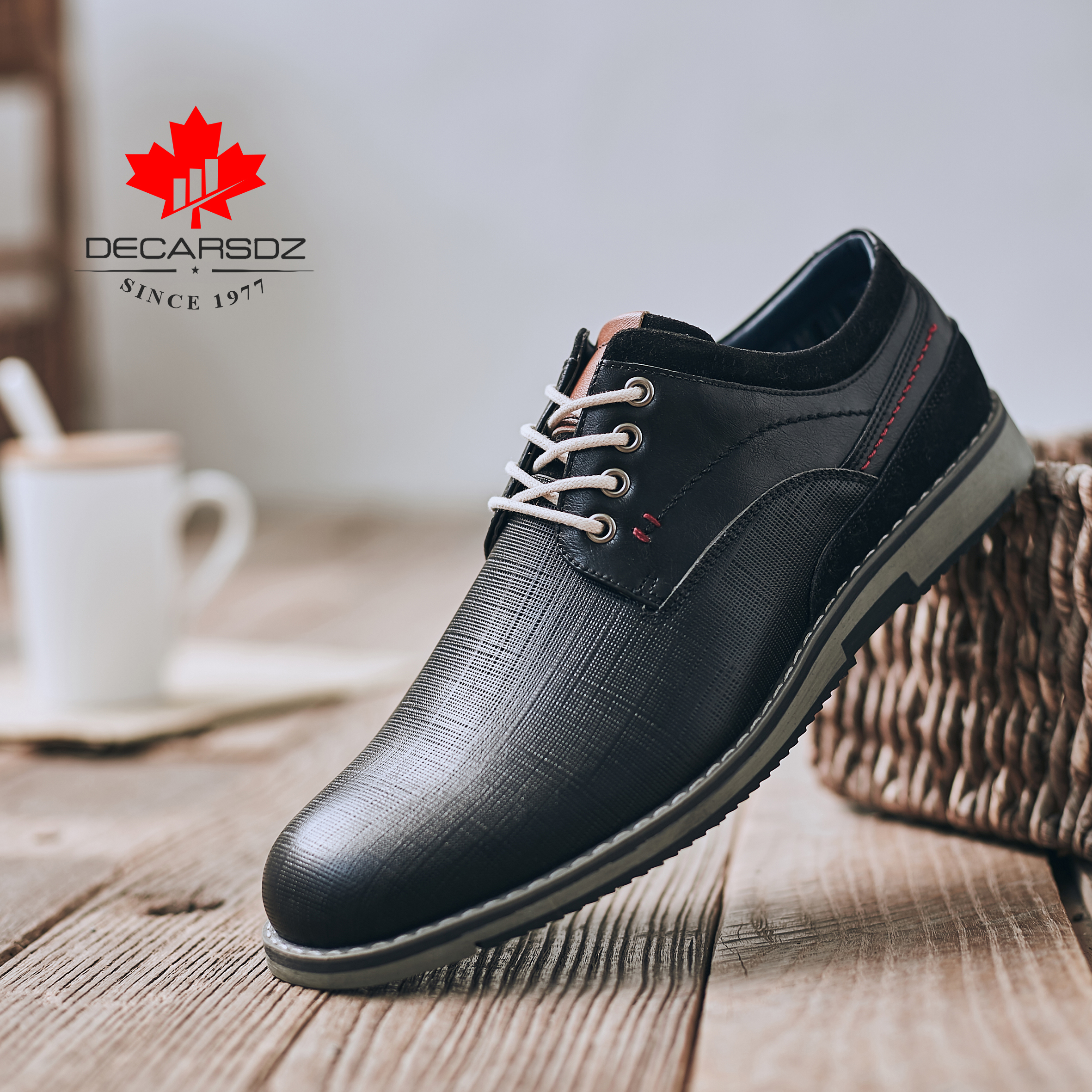 Men s Shoes Leather Casual Footwear 2019 Fashion Brand Men Formal Shoes New Autumn Shoes Round