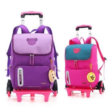 3c73e13c9 Chico carro mochila con ruedas bolsa de equipaje para niños niñas última  desmontable bolsas de la