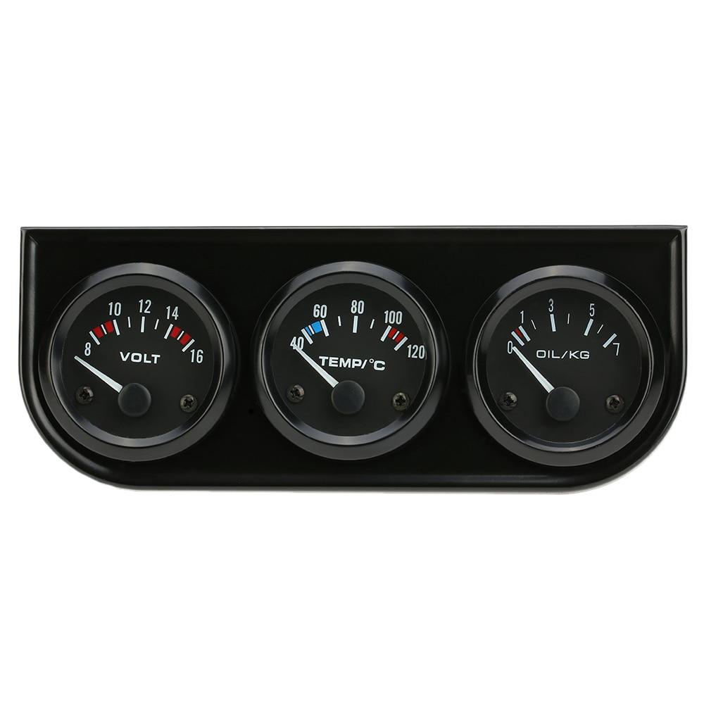 3 4 Electronic Oil Meters : Best sale mm electronic triple gauge kit oil pressure