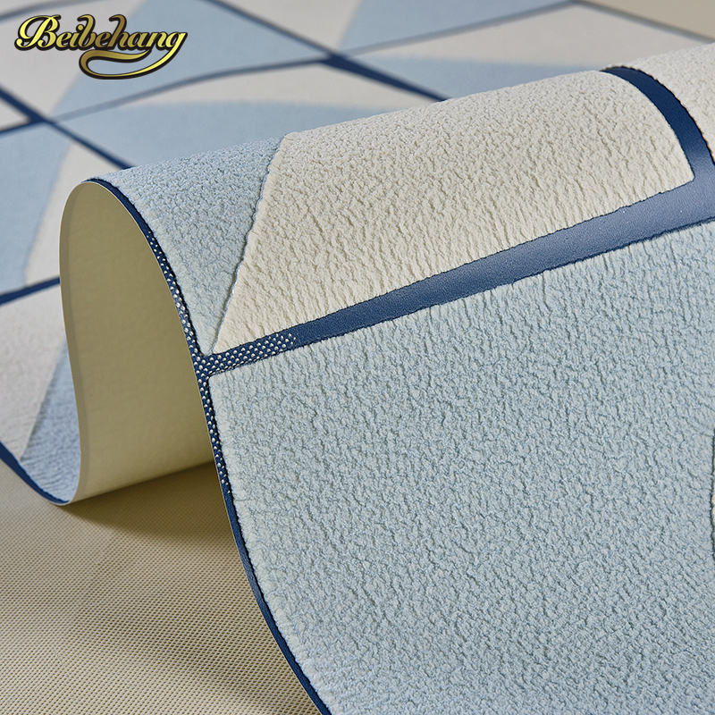 beibehang papel de parede 3d Abstract squares wallpaper for walls 3 d Embossed Wall Paper For Bedroom Living Room papel contact beibehang blue retro nostalgia wallpaper for walls 3d modern wallpaper living room papel de parede 3d wall paper for bedroom