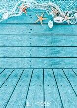 SJOLOON Fina Fotografia Vinil Fundo Da Parede de Madeira do mundo Azul do Fundo Da Foto Estúdio Adereços trepang decoração personalizada