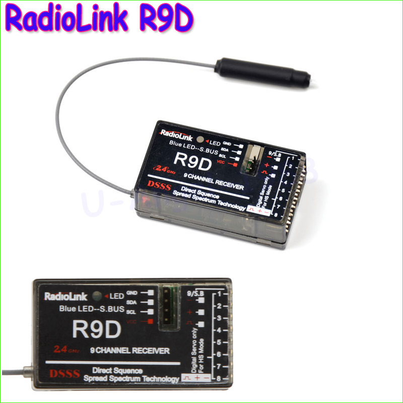 Original RadioLink R9D 2.4G 9CH DSSS Receiver for AT9 AT10 Transmitter RC Helicopter Multirotor Support S-BUS