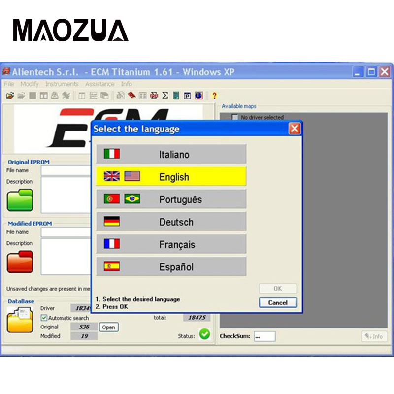 Maozua For KESS V2 And KTAG ECM TITANIUM 1.61 With 18259 + Driver ECM 26000+ Software + WinOLS V2.24 Software
