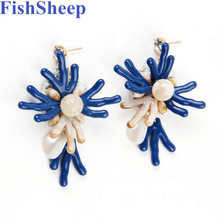 FishSheep, модные новые богемные серьги для женщин, винтажные этнические Висячие длинные висячие серьги с бахромой,, массивные ювелирные изделия