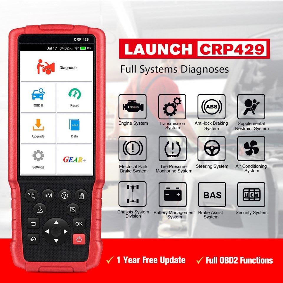 Launch CRP429 Car Diagnostic Tool Auto Scanner All System Diagnostics Scan Automotive