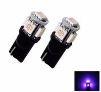 PA 2 개 x T10 168 W5W 5SMD LED 자동 쐐기 전구 핑크 12 볼트 + 2 BAU15S 컨버터 소켓 커넥터 자료