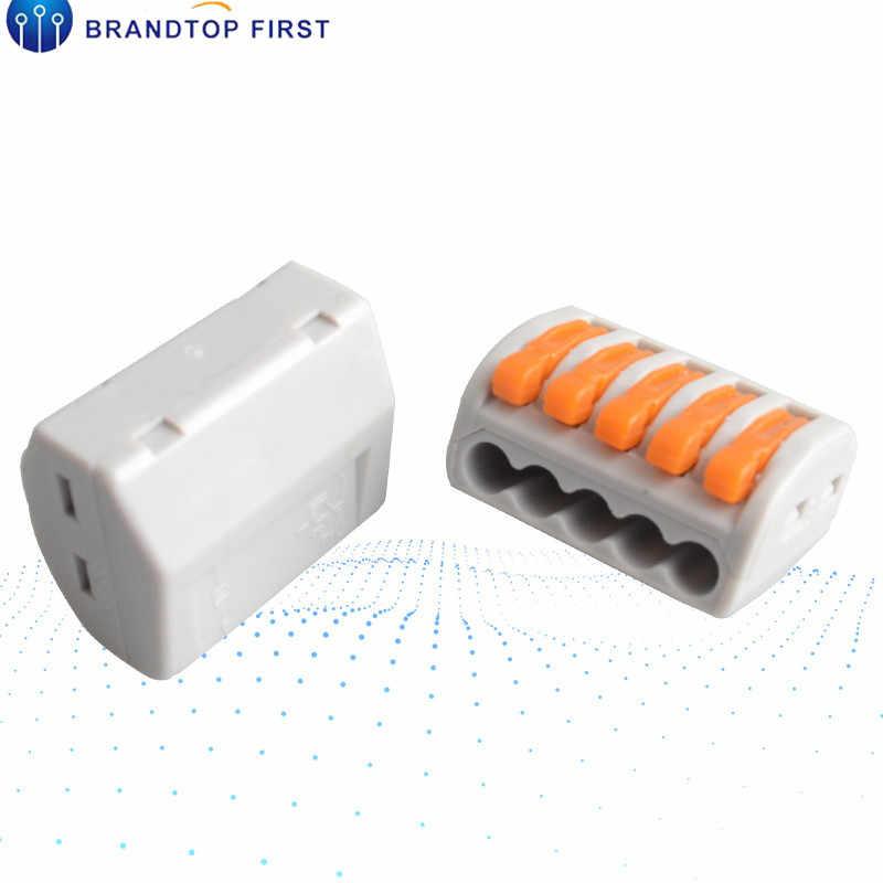 PCT Мини Быстрый провод разъемы Универсальный Компактный соединитель проводки нажимной клеммный блок
