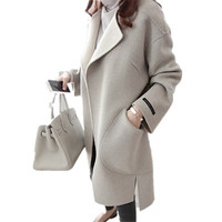 2018 Women Spring Winter Coats Jackets Thick Long Poncho Coats Belt Oversized High Quality Winter Long Coat Manteau