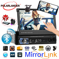 1 Din Car mp4 mp5 Player Stereo Vedio Car Audio Radio 7' HD Retractable Screen Touch Mirror Link car radio cassette player