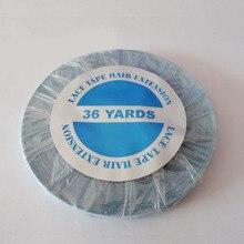 1cmx 36 ярдов долго лента доказательство воды Супер качество синий ленточное наращивание волос ленты для волос лента