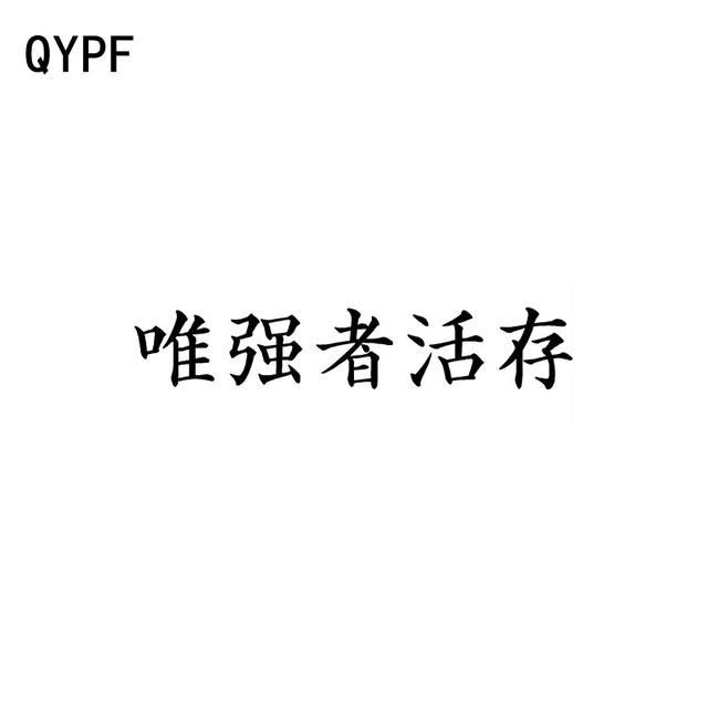 Qypf 16cm3cm Fashion Chinese Kanji Survival Of The Only Strong