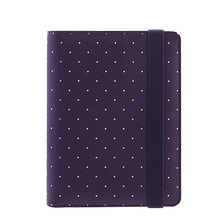 YIWI New A5 A6 A7 Purple Color Gold Ring Planners Agenda Notebooks Journal Kawaii DIY Stationery Wholesale Dokibook Abook