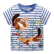 Boys Short Sleeve T-Shirt Kids Infant Fashion T Shirt boy Cotton Clothes boys Striped Printed cartoon Tops Tee Children Clothing