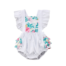 Pudcoco Summer Infant Newborn Toddler Baby Girl Flower Sleeveless Bodysuit Jumpsuit Sunsuit Outfit Clothes
