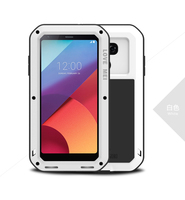 LOVE MEI for LG G6 G5 Cases Powerful Shockproof Drop proof Dust proof Mobile Shell for LG V30 Metal + Silicone + Tempered Glass